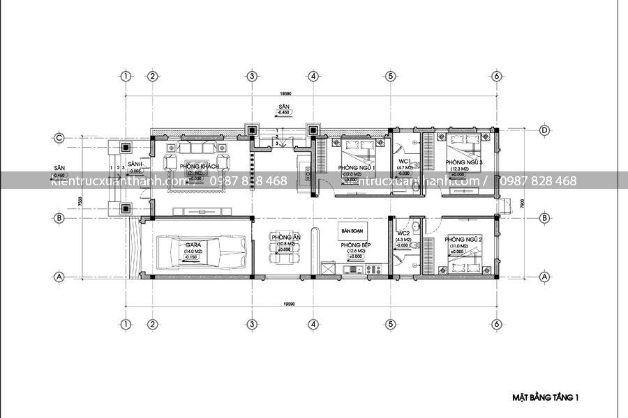 mẫu biệt thự 1 tầng đẹp 242.1