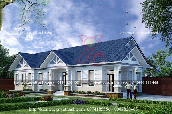 mẫu biệt thự 1 tầng đẹp BT18252.1