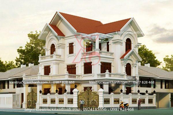 mẫu biệt thự 2 tầng đẹp nhất BT18466.1