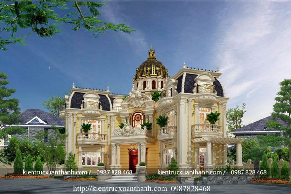 Mẫu biệt thự cổ điển 2 tầng đẹp BT18236 - Ảnh 3