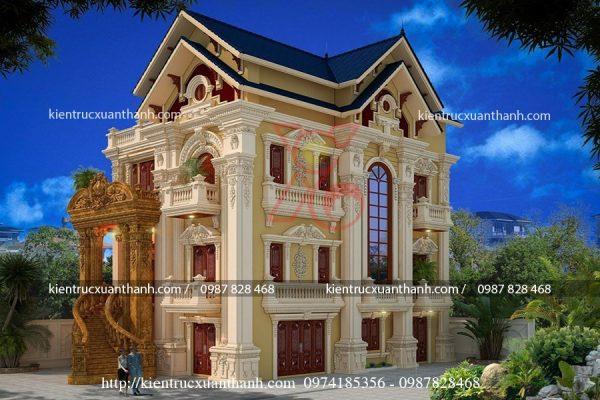 mẫu biệt thự cổ điển đẹp BT18241 - Ảnh 1
