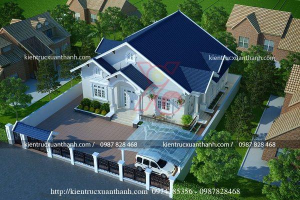 mẫu nhà 1 tầng mái thái đẹp 234.1