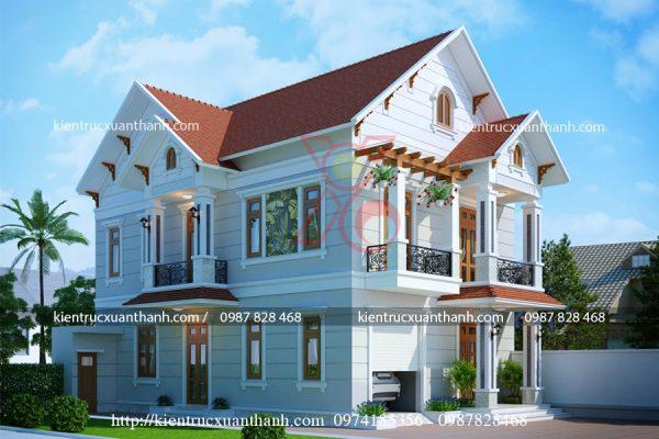 mẫu nhà 2 tầng mái thái BT18257 - Ảnh 1