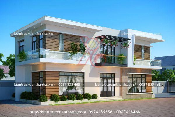 mẫu nhà biệt thự biệt thự 2 tầng đẹp BT18286.1