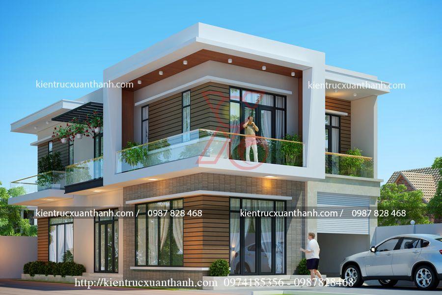 mẫu nhà biệt thự biệt thự 2 tầng đẹp BT18286.2