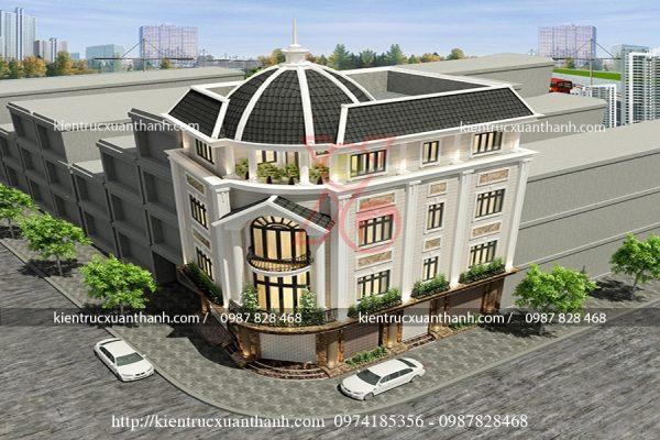 mẫu nhà biệt thự 4 tầng BT18444 - Ảnh 1
