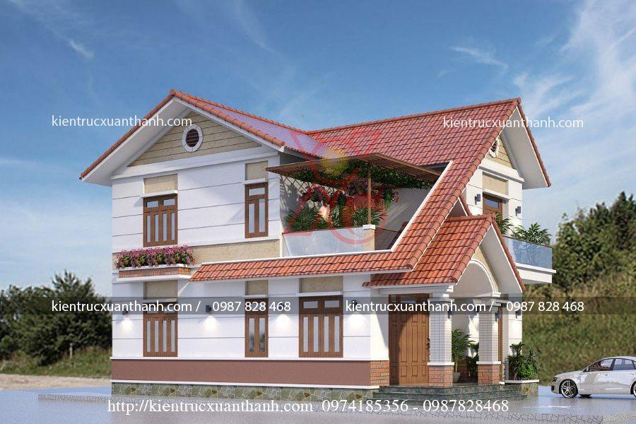 nhà biệt thự 2 tầng đẹp BT18296.2