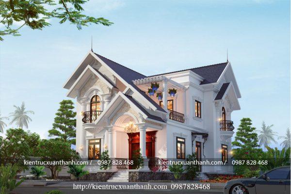 nhà biệt thự 2 tầng đẹp BT18296 - Ảnh 1