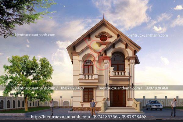 thiết kế biệt thự 2 tầng cổ điển BT18281.2