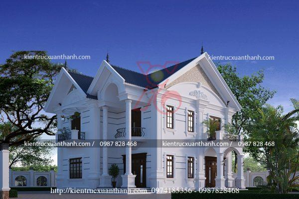 thiết kế biệt thự 2 tầng đẹp BT18223 - Ảnh 2