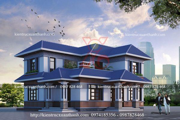 thiết kế biệt thự 2 tầng đẹp BT18224 - Ảnh 2