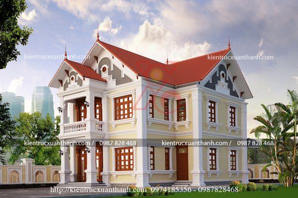 thiết kế biệt thự 2 tầng đẹp BT18228 - Ảnh 1
