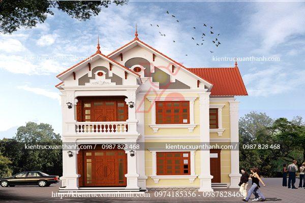 thiết kế biệt thự 2 tầng đẹp BT18228 - Ảnh 2
