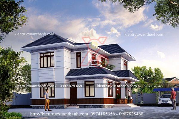 thiết kế biệt thự 2 tầng đẹp BT18232 - Ảnh 1