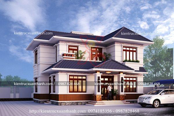 thiết kế biệt thự 2 tầng đẹp BT18232 - Ảnh 2