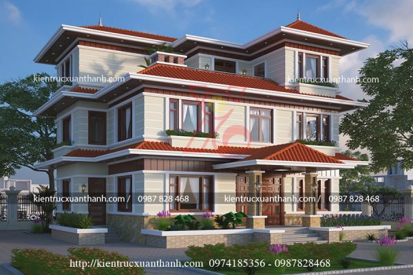 thiết kế biệt thự 3 tầng đẹp BT18145 - Ảnh 2
