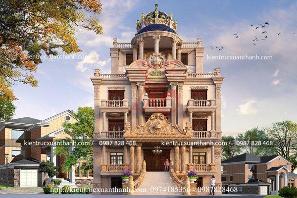 thiết kế lâu đài 5 tầng đẹp BT18200 - Ảnh 1