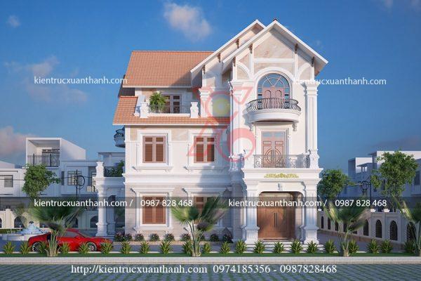 thiết kế biệt thự 3 tầng đẹp BT18305 - Ảnh 1