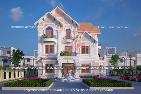 thiết kế biệt thự 3 tầng đẹp BT18305 - Ảnh 2