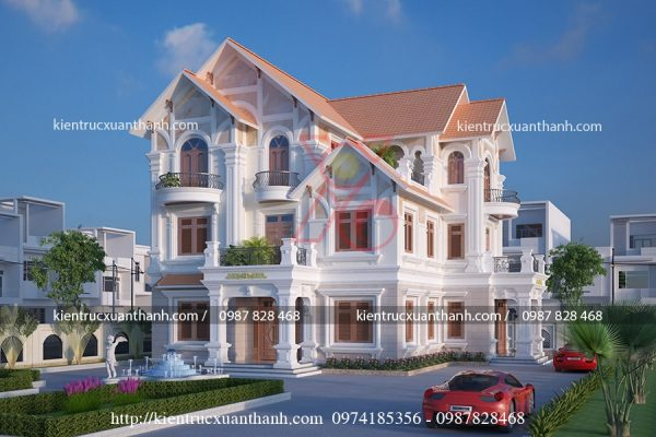 thiết kế biệt thự 3 tầng đẹp BT18305 - Ảnh 3