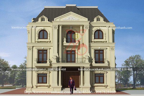 thiết kế lâu đài 3 tầng đẹp 212.2
