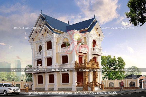 thiết kế biệt thự đẹp BT18238 - Ảnh 3
