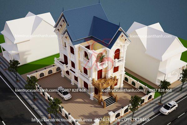 thiết kế biệt thự đẹp BT18238 - Ảnh 1