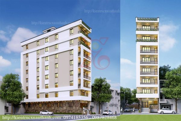 thiết kế khách sạn mini 301.1
