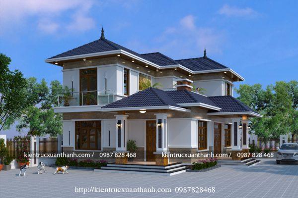 thiết kế nhà 2 tầng đẹp BT18247 - Ảnh 2