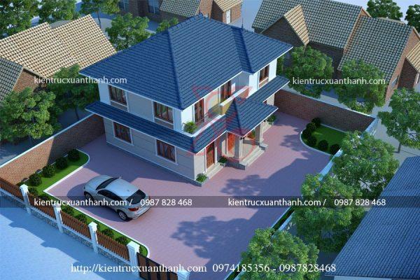 thiết kế nhà mái thái 2 tầng BT18266 - Ảnh 2