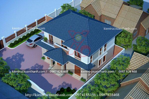 thiết kế nhà mái thái 2 tầng BT18266 - Ảnh 3
