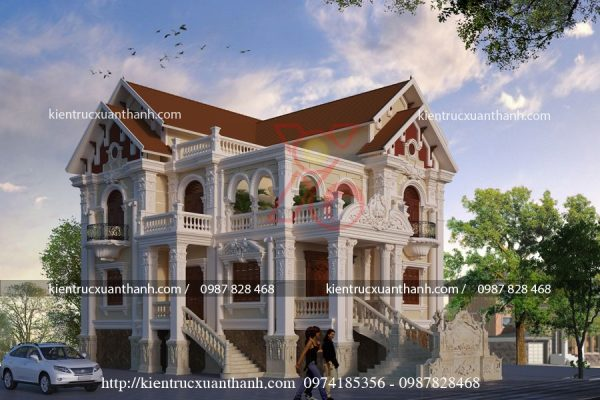 biệt thự 2 tầng tân cổ điển 18273.02