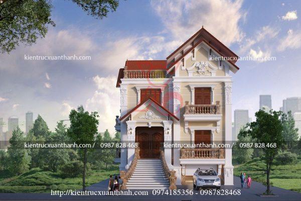 biệt thự 3 tầng cổ điển đẹp BT18451 - Ảnh 1