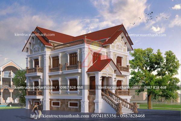 biệt thự 3 tầng cổ điển đẹp BT18451 - Ảnh 2