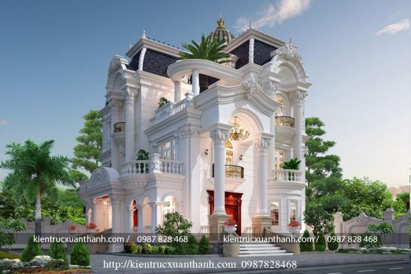 Thiết kế biệt thự 3 tầng kiểu Pháp ấn tượng 242 - Ảnh 4