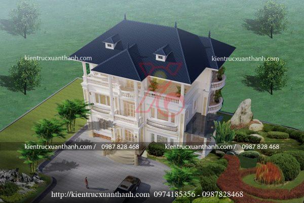 biệt thự tân cổ điển 3 tầng BT18450 - Ảnh 2