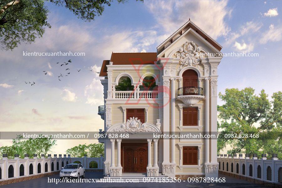 biệt thự tân cổ điển 3 tầng BT18453 - Ảnh 1