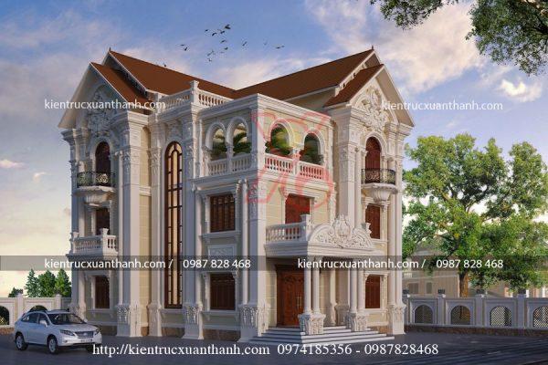 biệt thự tân cổ điển 3 tầng BT18453 - Ảnh 2