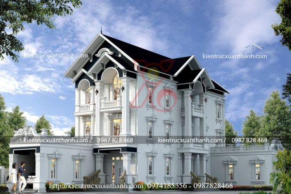 biệt thự tân cổ điển pháp BT18454 - Ảnh 1