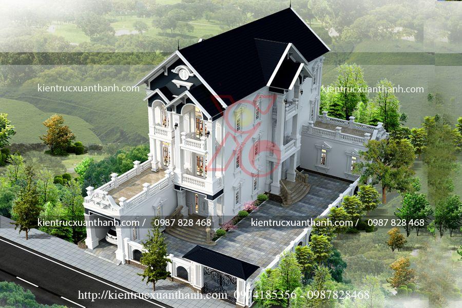 biệt thự tân cổ điển pháp BT18454 - Ảnh 2