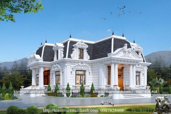 Biệt thự vườn cổ điển Pháp 250 - Ảnh 3