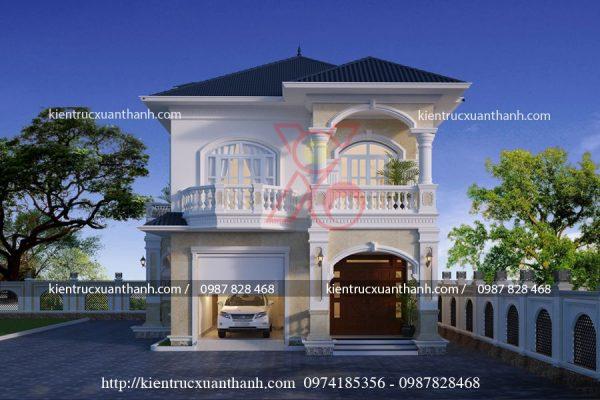 mẫu biệt thự 2 tầng đẹp tân cổ điển BT18275.1