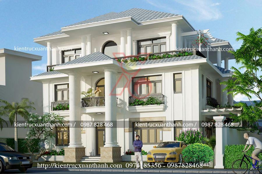 mẫu biệt thự mini 3 tầng đẹp BT18463 - Ảnh 1