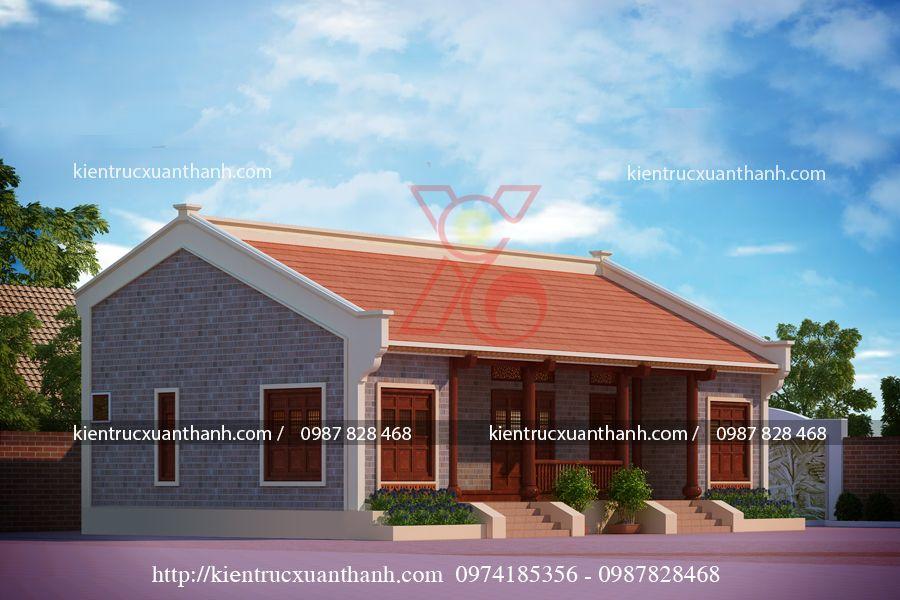 mẫu nhà 1 tầng nông thôn BT18254.2