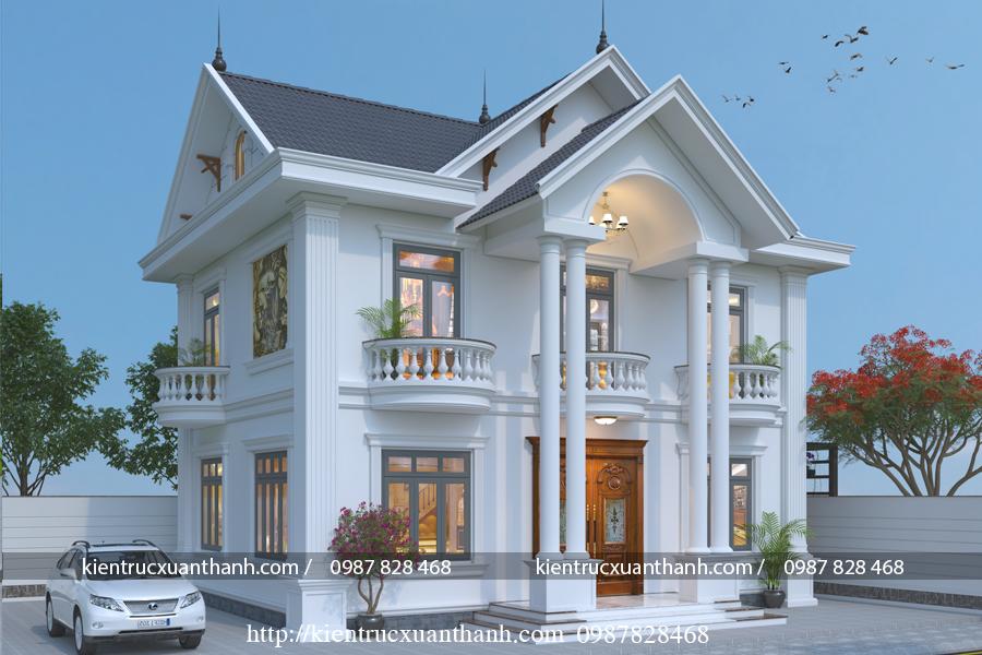 Mẫu nhà 2 tầng mái thái BT18327 - Ảnh 2