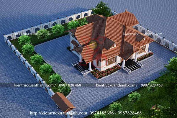 mẫu nhà biệt thự 1 tầng BT18227 - Ảnh 3