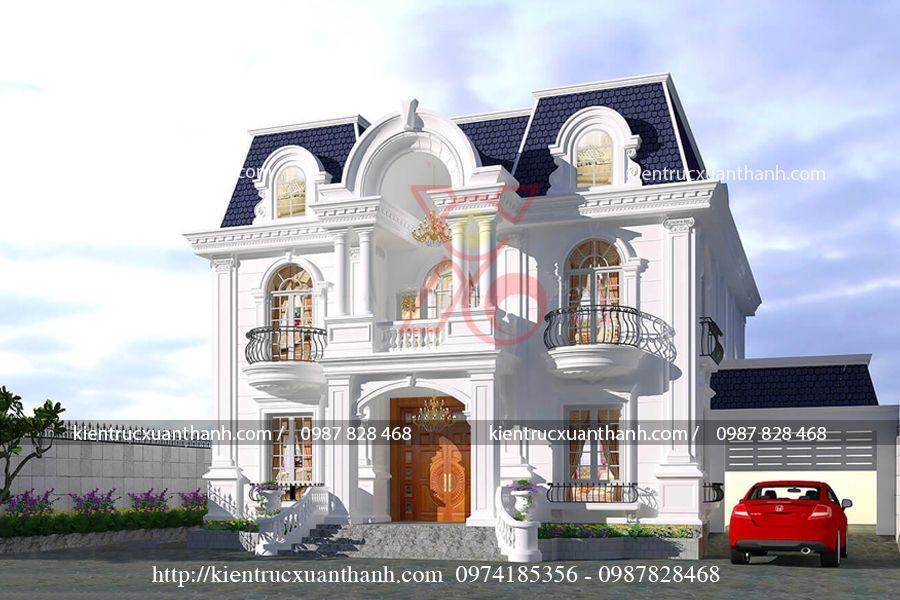 mẫu nhà biệt thự 2 tầng cổ điển BT18282 - Ảnh 1