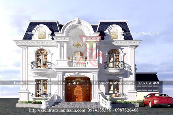mẫu nhà biệt thự 2 tầng cổ điển BT18282 - Ảnh 2
