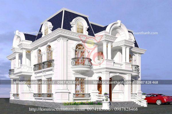 mẫu nhà biệt thự 2 tầng cổ điển BT18282 - Ảnh 3