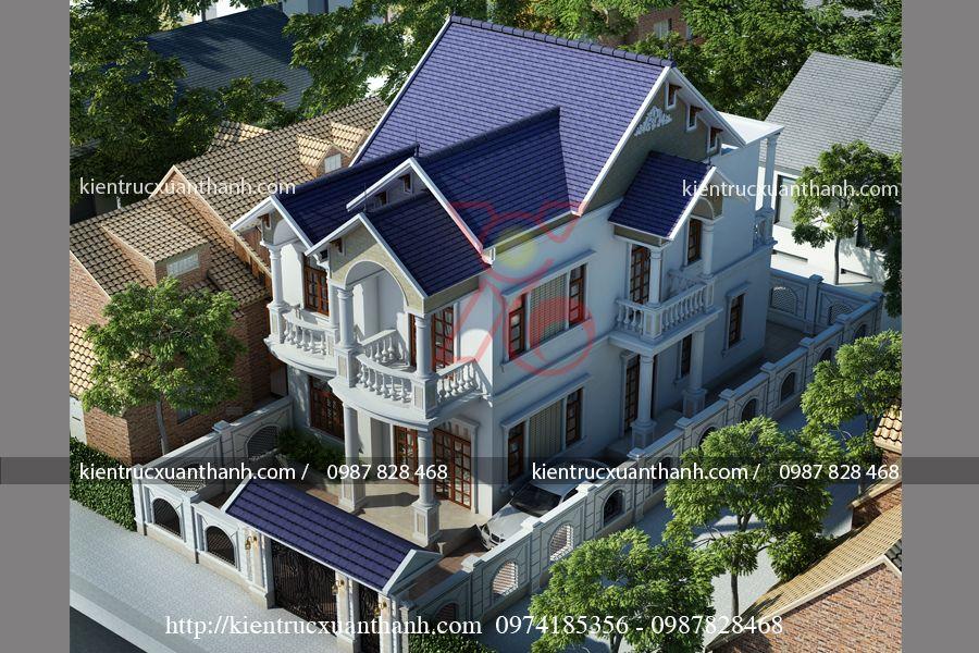 mẫu nhà biệt thự đẹp 2 tầng BT18191 - Ảnh 1